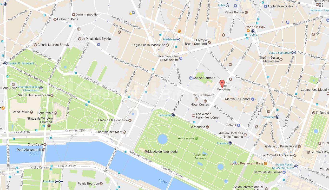 MAPS PARIS VENDOME