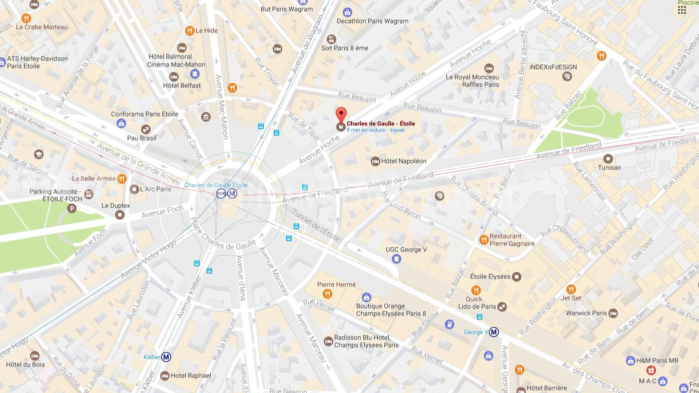 MAPS PARIS ARC DE TRIOMPHE