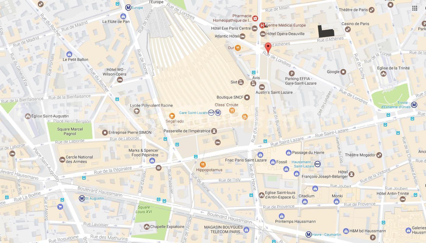 MAPS PARIS GARE ST LAZARE
