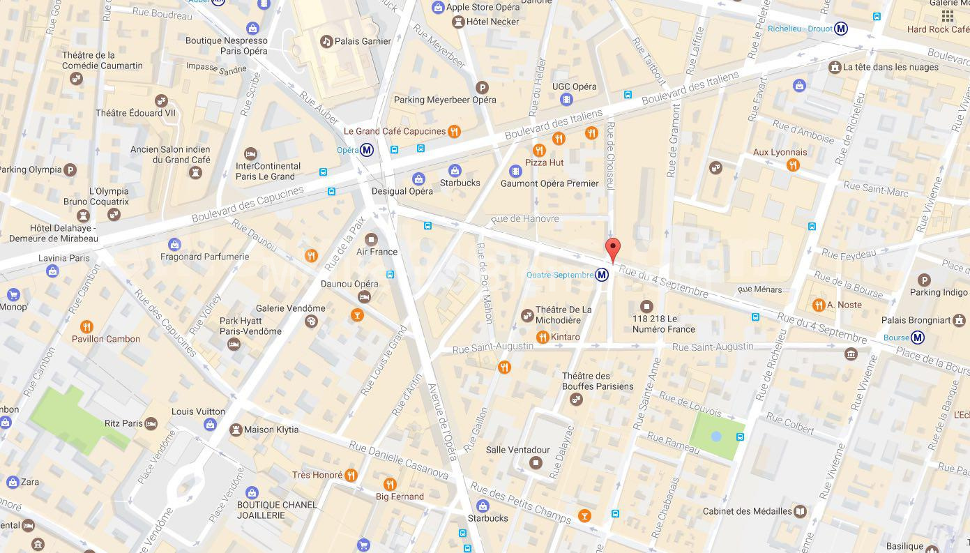 MAPS PARIS BOURSE